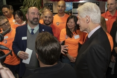 CLA-Brian-Wallace-introduces-President-Bill-Clinton-at-LaundryCares-Literacy-Space-Opening